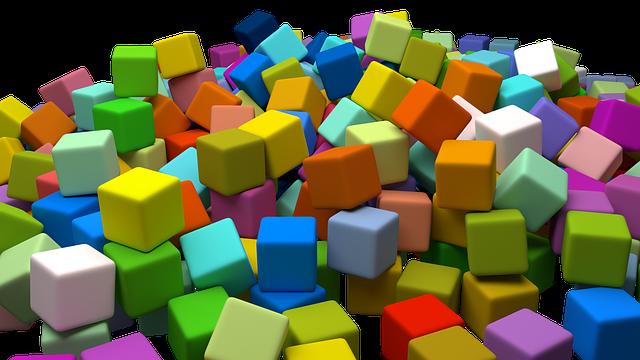 barevné kostičky
