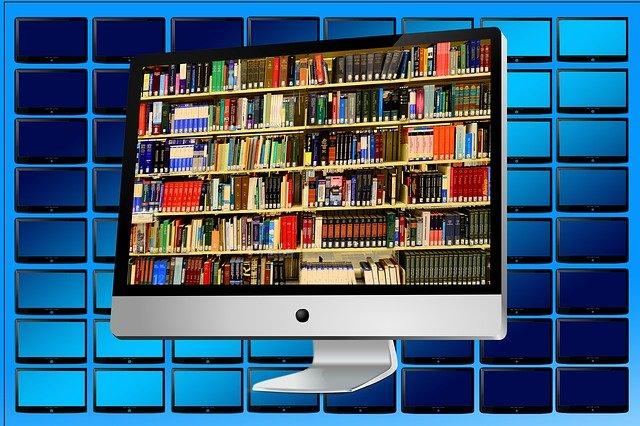 knihy v počítači