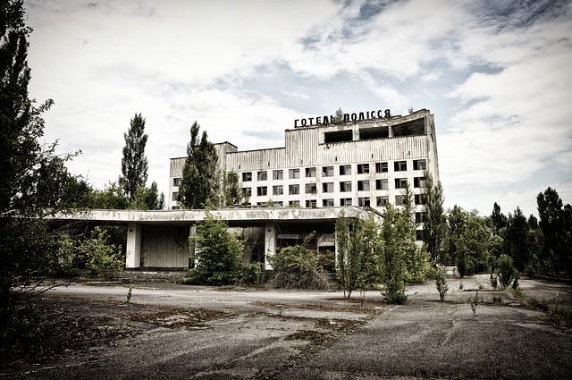 zničený černobyl