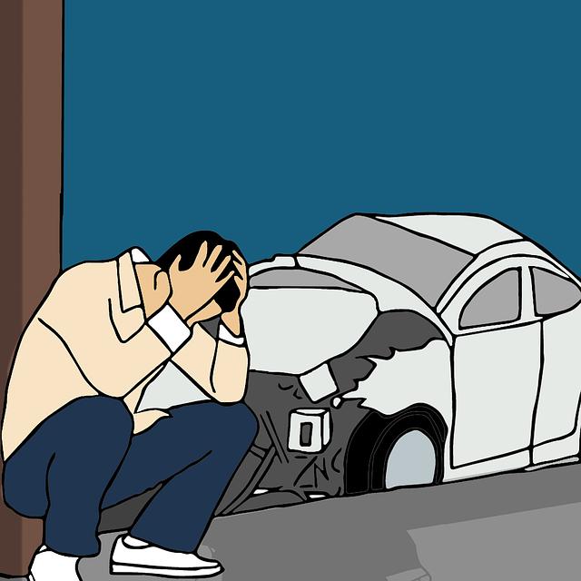 muž po autonehodě