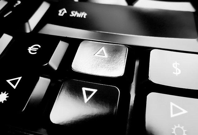 šipky na klávesnici