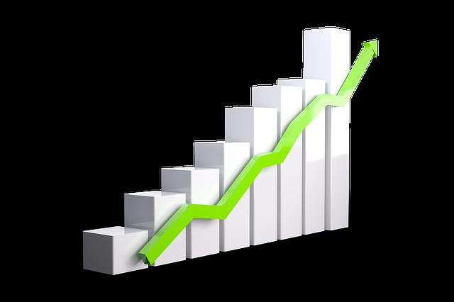 růst na grafu
