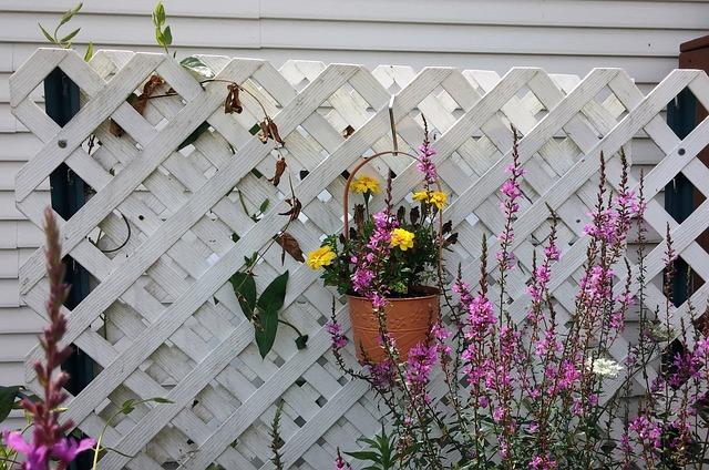 ozdobná stěna s květinami